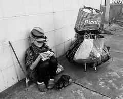 """Todo meu mundo"" (Leandro Centofanti) Tags: instagramapp square squareformat iphoneography uploaded:by=instagram arteurbana fotourbana urban mulher woman street rua pobreza poor mobile urbanarte urbano cidade city sopaulo cat bag sacolas pretoebranco pb bw streetart people samsung s7edge brasil brazil"