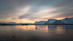Like a burning sky... (mierhhhlich) Tags: norway norwegen gimsy pentax winter norge wetreflection da15limited sunset evening nordlandcounty northernnorway reflection lofotenislands