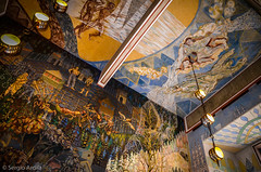 Sala Ayuntamiento de Oslo (serarca) Tags: ayuntamiento town hall oslo norway noruega sala pintura graffiti painting living room colores colours dibujos drawings techo ceiling