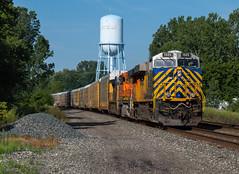 Love Those Stripes (Joseph Bishop) Tags: crex 1325 ge es44ac conneaut ohio trains train track tracks railfan railroad railway rail rails csx lakeshore