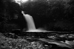 Thornton Force (Forty-9) Tags: waterfall ingleton 11082016 forty9 2016 ingletonwaterfallstrail tomoskay lightroom efslens canon yorkshire eos60d yorkshiredales lightroommobile efs1022mmf3545usm longexposure 11thaugust2016 august holiday water river blackandwhite bw thorntonforce