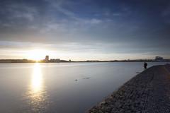 Cardiff Bay Sunset 2 (The6millionpman) Tags: cardiff cardiffbay wales sunset walescoastalpath cityscape city water sky skyline sea seaside sundown light nikon nikond5200 sigma longexposure neutraldensityfilter