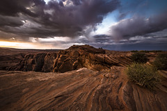 The Sound of Colors (Fabio Todeschini ) Tags: arizona fulmine light lightning usa america statiuniti sunset tramonto gold goldhour blue sky cloud storm lightstorm fabiotode nikon d7200 nd gnd long exposur landscape rocks rock cielo manfrotto clouds wave sigma 1020 lee filter page haida horseshoe canyon