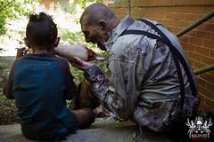 Sharing a snack (SlayervilleProd) Tags: zombie makeup halloween baldwinasylum slayerville slayervilleproductions undead hauntedhouse baldwinasylum2016videoshoot