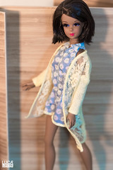 * Francie Silkstone in Barbie Dress * (LeoDOLL81) Tags: francie silkstone black repro barbie outfit dress