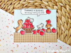 thanks a bushel apples and dogs - LF&SSS card (fridayfinally) Tags: lawnfawnstamp lawnfawndies lawnfawn simonsaystamp simonsaysstamp cleanandsimplecard happyhowlidays thanks thankyoucard copic copics copicmarkers distressink dogs dog hamsters apples critters crittersparty happycard happycritters ginghambackdrops red lightblue whitegelpen cute cutebackground love lovely