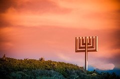 In Remembrance of the Passover and the Resurrection of the Christ! ( In 2 Making Images | L.A.) Tags: california sunset sea sky usa cloud plant horizontal outdoors photography israel flying tranquility nopeople malibu judaism dramaticsky scenics hanukkah passover traditionalculture menorah inarow candlestickholder colorimage beautyinnature consumerproduct horizonoverwater albertvallescanoneosdigitalslrrebelt2ifineartamericamalibunature