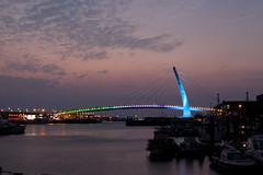 (jozumi) Tags: bridge sunset sea sun night canon river ship taiwan scene  taipei nightview     moutain  2470l            35l 2013    5d2