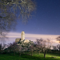 Castillo de Penella (Alex Stoen) Tags: nightphotography sky lightpainting blur tree grass night clouds canon stars geotagged arbol noche google spain flickr wind viento collection alicante motionblur cielo nubes estrellas nightsky inland alcoy mouvement smugmug facebook teamwork almondblossom almendros fromdusktilldawn creativelighting ef24105f4lisusm 500px noctambulos pintarconluz canoneos5dmarkii 5dmk2 alexstoen alexstoenphotography nocturnaenaccion castillodepenella