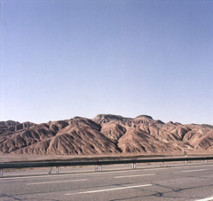 (futile81) Tags: 120 highway alone driving hasselblad asphalt kashan aftab qom fujipro160c expired2008 january2013 oootooban 206eazizam