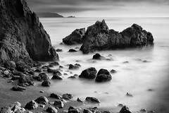 Son of Mussel Rock (Ron Rothbart) Tags: ocean sanfrancisco california longexposure blackandwhite bw water monochrome pacificocean nd dalycity pacifica seacoast musselrock neutraldensityfilter 10stopfilter