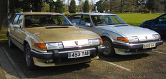 PARKED NEXT TO EACH OTHER (Yugo Lada) Tags: auto old colour cars car silver gold photo other rover next retro vehicle parked 1985 rare each efi 3500 x2 sd1 vplas b453tah b203ahj
