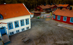 A little old school in a big hostile society (cablefreak) Tags: school toy miniature politics aerial tiltshift multirotor multicopter