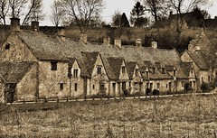 Arlington Row, Bibury (Mike Dorey) Tags: uk greatbritain trees england bw house black southwest english heritage architecture rural buildings landscape nikon village place britain country cotswolds gloucestershire historic brittish oldengland d600 englishness