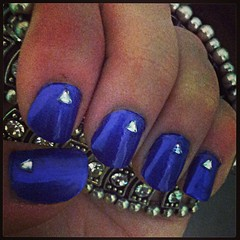 Nails (BrittneyKudalis) Tags: design paint purple diamond nails nailpolish naildesign purplenails coolnails diamondnails funnails
