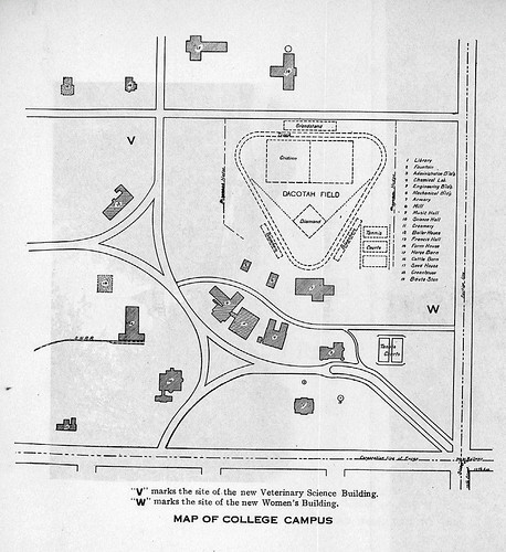 North Dakota Argricultural College (North Dakota State University) campus map, 1910