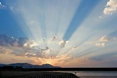 Magical Sunrise (Digital Degenerate) Tags: morning light sky india lake water clouds sunrise landscape shadows maharashtra rays wai dhom