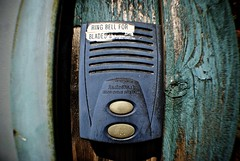 Ring Bell For Blades (Wires In The Walls) Tags: abandoned connecticut ct shelton labeled intercom doorbell buzzer 2013 chimeradioshack