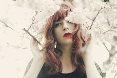 Honey ({peace&love}) Tags: pink flowers red girl hair spring lipstick pinkparis1233