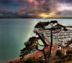Torquay (PhotoArt Images) Tags: uk sunset england water view harbour torquay flickrsfinestimages1