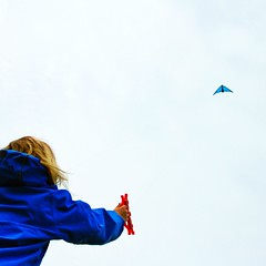 Let's go fly a kite... ( EkkyP ) Tags: blue kite plymouth uploaded:by=flickrmobile flickriosapp:filter=nofilter