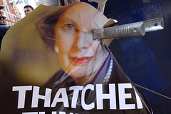 Margaret Thatcher - London, UK (Maciej Dakowicz) Tags: uk england london poster thecity funeral margaretthatcher