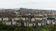Edinburgh Panorama from Arthur's Seat (@Tuomo) Tags: city autumn panorama castle nikon edinburgh nikkor arthursseat 2470mm autumnleafs panoraama d700