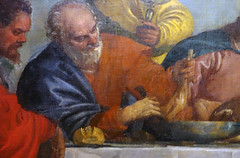 Detail of Peter, Paolo Veronese, Feast in the House of Levi