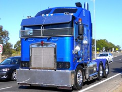 photo by secret squirrel (secret squirrel6) Tags: blue kenworth tooradin aerodyne bover secretsquirrel6truckphotos