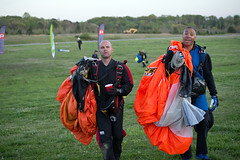 """Boogie Bonanza 2013, Sean and Jake after the Saturday sunset jump (divemasterking2000) Tags: party sky skydiving flying spring al jump jumping alabama dive diving celebration gathering western april boogie theme skydive canopy themed dropzone parachuting apr sda parachute dz bonanza canopies skyjump gather parachutes skyflying """"western skyfly 2013 skyjumping theme"""" """"boogie alabama"""" """"skydive bonanza"""" themed"""""""
