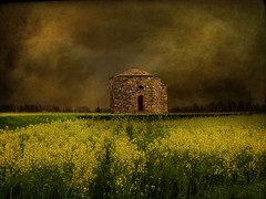 IMG_0263 old chapel in the fields - ON EXPLORE # 72 (pinktigger) Tags: italy field landscape countryside spring italia country chapel friuli rapeseed colza martignacco