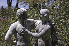 Temptation Carved in Stone (zuni48) Tags: sculpture statue garden maryland adamandeve ladewgardens sonya65v