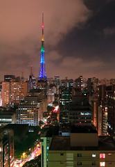 Noite em São Paulo (De Santis) Tags: city light cidade brazil window brasil night canon cores long exposure sãopaulo sp noturna noite janela luzes av paulista exposição avenidapaulista longa s100 fernandodesantis