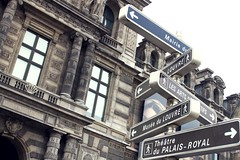 signs (wild iris) Tags: travel summer paris france museum architecture square europe louvre directions signpost palaisroyal