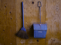 Pair (nag #12) Tags: life wood blue stilllife texture wall object room woody lifestyle surface daily structure cleaning clean necessary essential need material dust fellow item broom dustpan indispensable accomplice mygearandme