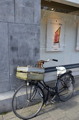 The bicycle and the Apple Store (SpirosK photography) Tags: holland netherlands amsterdam bicycle applestore