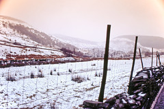 Cwm Penmachno (Saturated Imagery) Tags: mountain snow film wales 35mm fence slidefilm e6 conwy moel canoneos300 cwmpenmachno kodakektachrome100g