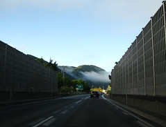 (-Michik-) Tags: road morning cloud mountain mountains cars car japan clouds japanese highway  yamaguchi     iwakuni      yamaguchiken     moun