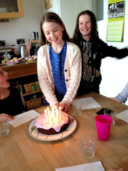 Happy Birthday Claudie! (sarahjanequinn) Tags: birthday family cake candles uploaded:by=flickrmobile flickriosapp:filter=nofilter