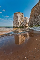 Botany Bay reflection (James Waghorn) Tags: light sea england sky beach water clouds reflections chalk kent nikon rocks waves sigma botanybay ultrawide whitecliffs lightroom broadstairs sigma1020 d5000 blinkagain bestofblinkwinners blinksuperstars
