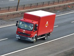 P013 EDR (Cammies Transport Photography) Tags: road house truck edinburgh mail royal lorry m8 lf flyover daf hermiston po13edr