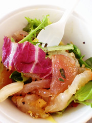 Cured fish with mango salad, Seychelles style (Nada*) Tags: uk food fish london mobile salad healthy phone telephone cell delicious eat exotic mango seafood seychelles 4s foodfestival iphone iphone4s londoncoffeefestival
