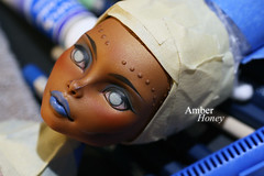 Robecca - wip (Amber-Honey) Tags: monster amber high mod doll ooak steam honey custom mh mattel repaint robecca