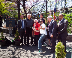 Adam Yauch Park dedication (TheeErin) Tags: park family usa rachael adam brooklyn memorial unitedstates noel frances heights beastieboys beastie mca adrock horovitz yauch