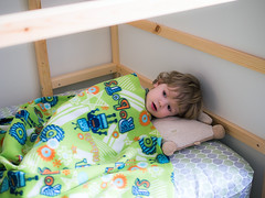 Oh yeah blankets! (Out of Focus [sic]) Tags: bed toddler sleepy bigboy layingdown nanowes