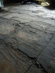 "Asbestos 9""x9"" Floor Tile Poor Condition (Asbestorama) Tags: tile floor inspection flooring survey asbestos 9x9"