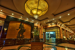 Renaissance Kota Bharu Hotel - The Lobby Interior part 2 (Shamsul Hidayat Omar) Tags: tourism architecture photography hotel decoration scene lobby chandelier malaysia interiordesign hdr highdynamicrange kotabharu kelantan wayangkulit greatphotographers nikond3 nikonhdr oloneophotoengine shamsulhidayatomar senirekadalaman renaissancekotabharuhotel