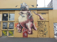 Makatron...Clifton Hill... (colourourcity) Tags: streetart monster graffiti awesome melbourne tags godzilla ugly graff maka throws throwies everfresh makatron streetartmelbourne graffitimelbourne everfreshcrew burncity mikemaka tagsthrows colourourcity