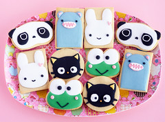 Kawaii Cookies (IFeelCook) Tags: cookies recipe rice kawaii japanesefood props tarepanda chococat sugarcookies keroppi royalicing chickentray japanesepopculture bunnycookies kawaiicookies bearcookies kawaiifood riceroar ricetray