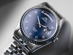 Orient CEV0J003D (Plamen Velev) Tags: blue hommage orient homage sapphire daydate cev0j003d wideday
